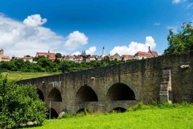 Die Doppelbrücke von Rothenburg