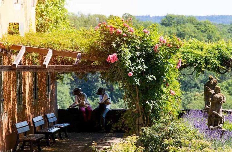 Der Burggarten in Rothenburg ob der Tauber
