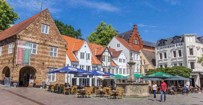 Der Nordermarkt ist der wohl älteste Marktplatz von Flensburg