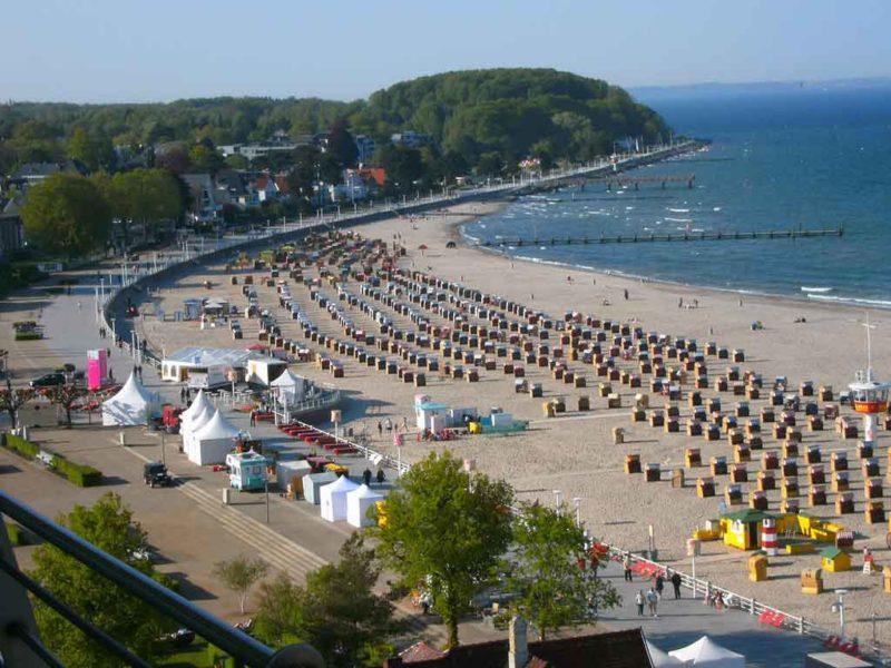 Die Strandpromenade von Travemünde wird auch Ostseepromenade genannt