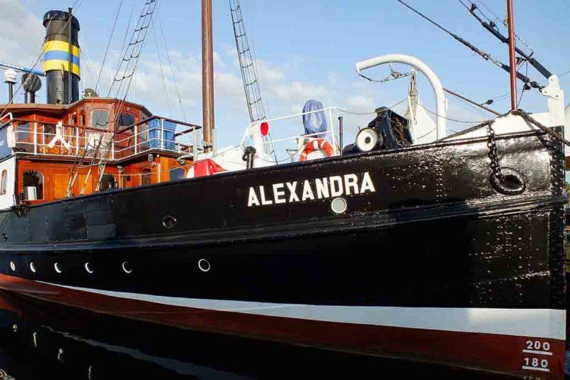 Das Dampfboot Alexandra gilt als maritimes Wahrzeichen von Flensburg