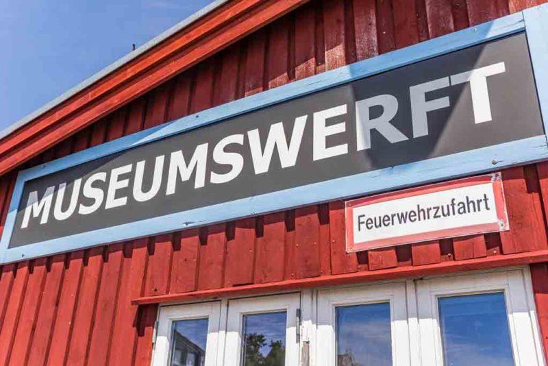 Die Flensburger Museumswerft am historischen Hafen