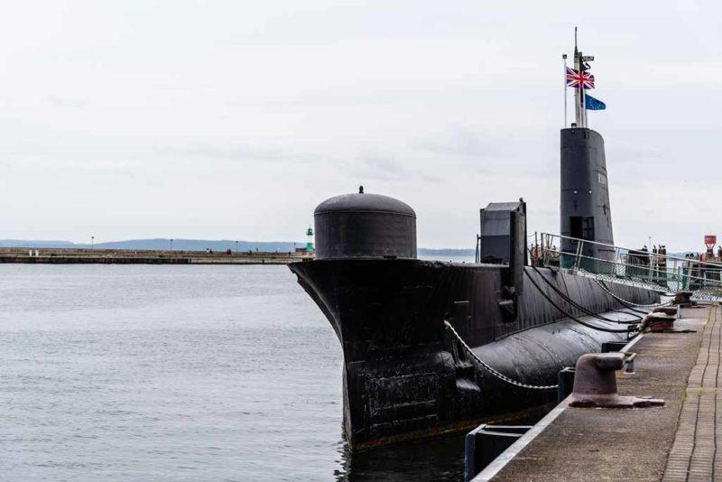 Die HMS Otus in Sassnitz auf Rügen ist ein ehemaliges U-Boot der britischen Royal Navy