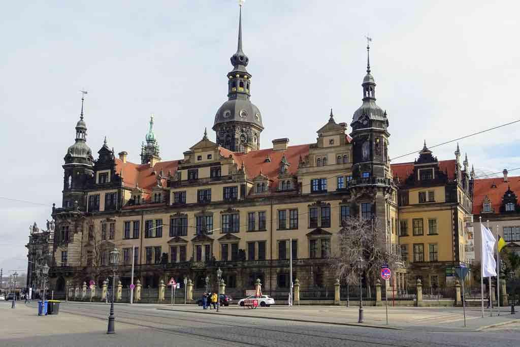 Der Residenzschloss in der Dresdner Innenstadt