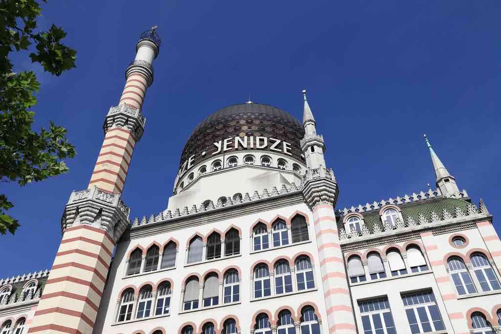 Im Yenidze-Gebäude war früher eine Zigarettenfabrik untergebracht