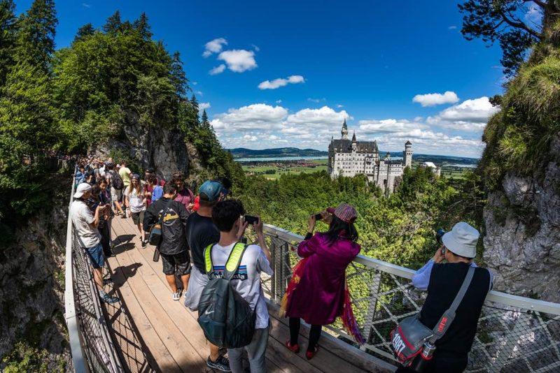 Von der Marienbrücke hat man den besten Blick auf Neuschwanstein