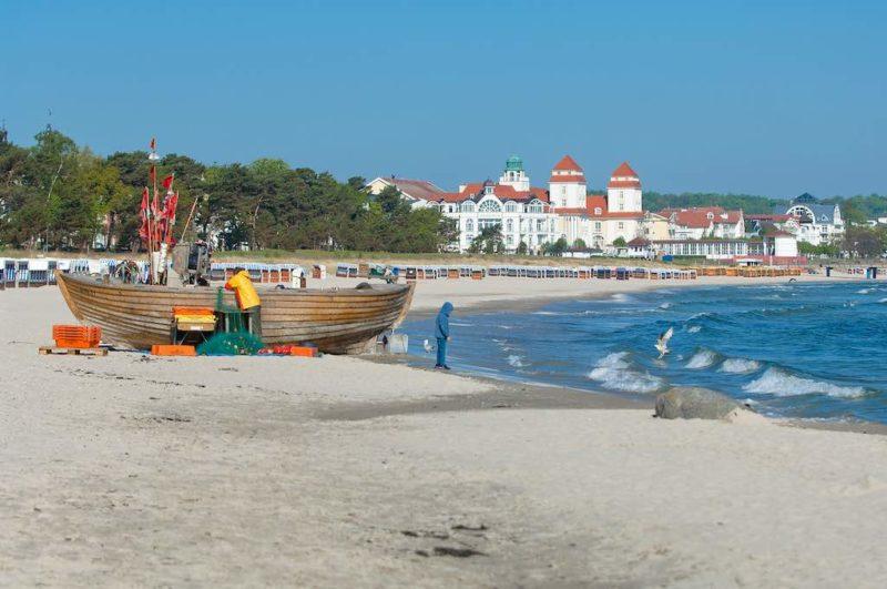 Blick auf den Strand von Binz auf Rügen