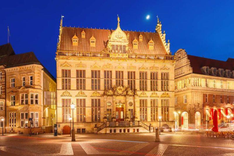 Das Gildehaus Schütting auf dem Bremer Marktplatz