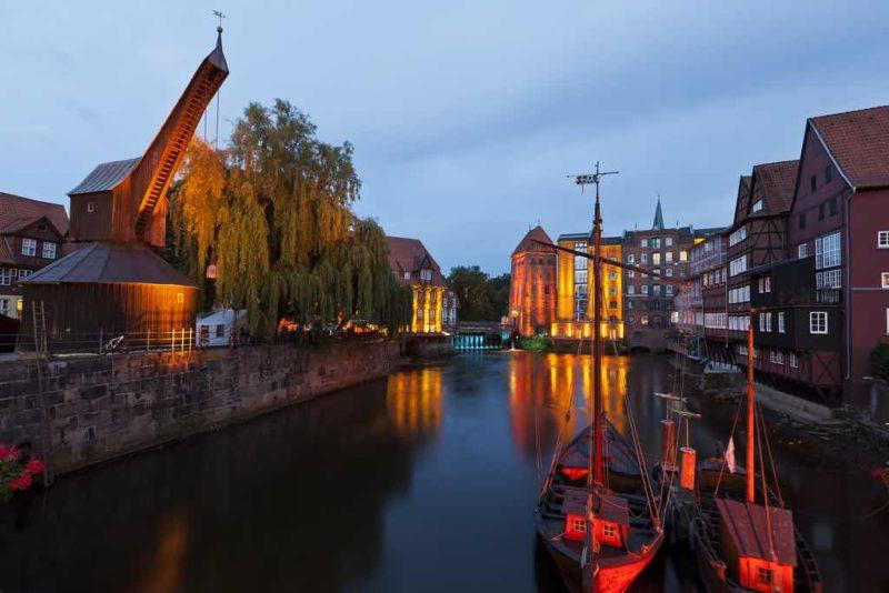 Der historische Hafen von Lüneburg