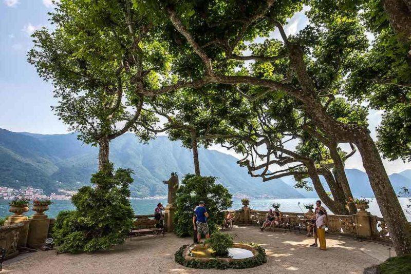 Vom Belvedere an der Villa del Balbianello hat man einen tollen Blick auf den See